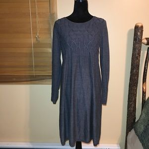 Dark Gray Sweater Dress. Long Sleeve. Knee length